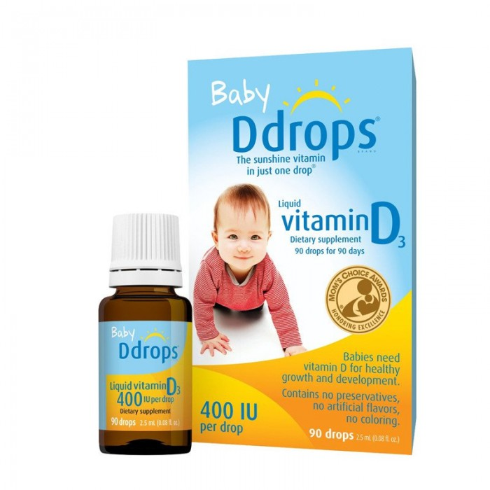 Ddrops - Baby 400 IU Vitamin D 90 drops 2.5ml