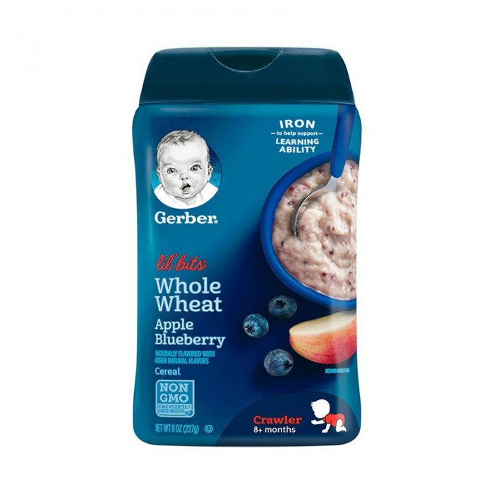 Gerber Lil' Bits Whole Wheat Apple Blueberry Cereal 227g
