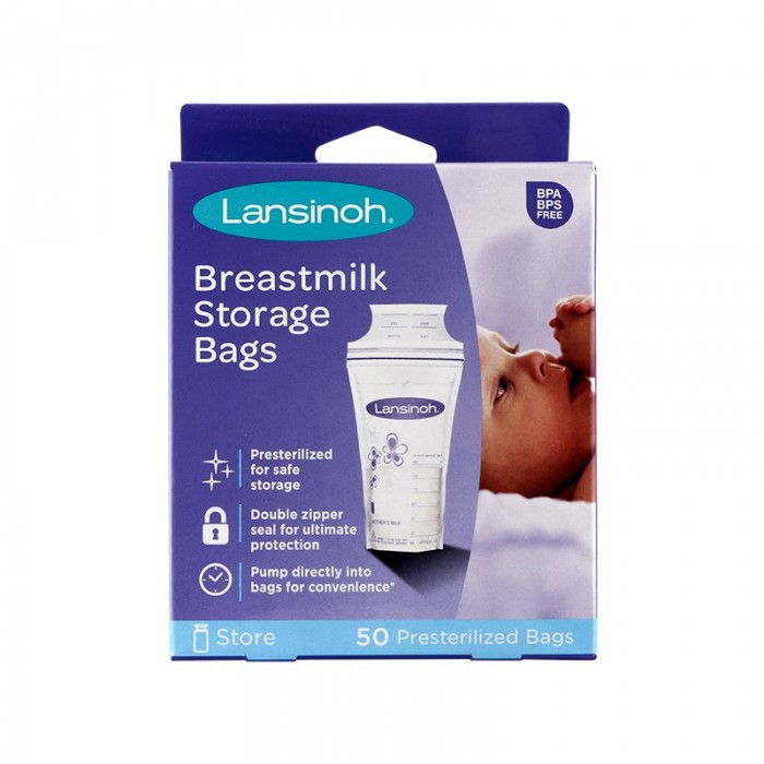 Lansinoh Breast Milk Storage Bags 50 Pack