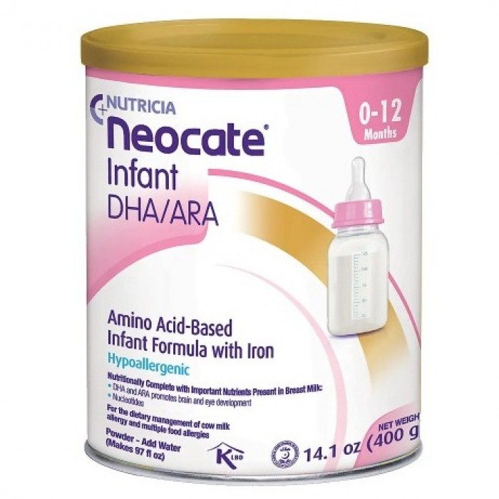 Nutricia Neocate Infant DHA/ARA, Amino Acid Based with Iron Powdered Infant Formula Unflavored, 0-12 Months 400g