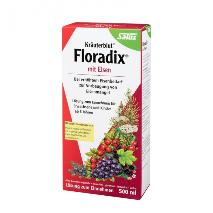 Salux Floradix Liquid iron and vitamin formula 500ml